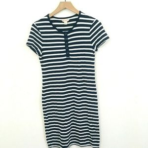 Brooks Brothers Henley Tee Stripe Casual Dress